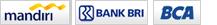 pembayaran Dutafashion, Bank Mandiri, BCA, BRI
