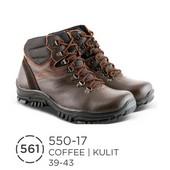 Sepatu Boots Pria Kulit 550-17