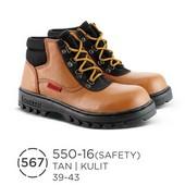 Sepatu Safety Pria Kulit 550-16