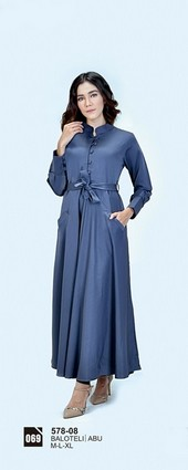 Long Dress Azzurra 578-08