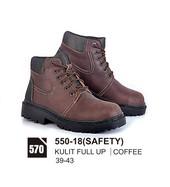 Sepatu Boots Pria Azzurra 550-18