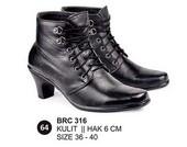Sepatu Boots Kulit Wanita BRC 316