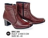 Sepatu Boots Kulit Wanita BRC 309