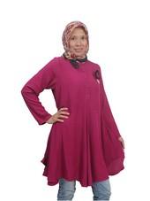 Jual Model Baju Batik Pesta Wanita Muslim Hijaber Modern
