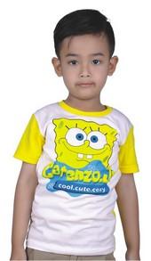 baju kaos anak karakter spongebob CPS 023