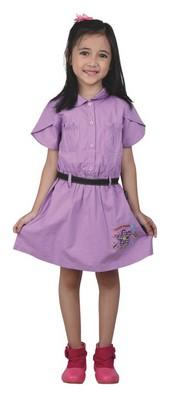 dress anak perempuan karakter masha and the bear CDC 101