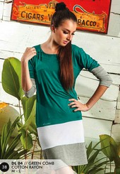 Dress Cotton Hijau DL 04