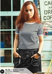 Dress Cotton Hitam DL 05