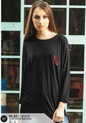 Dress Cotton Hitam DL 03