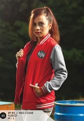 Jaket Fleece Wanita Merah JY 01