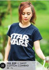 Kaos T Shirt Cotton Combad Wanita Navy GG 029