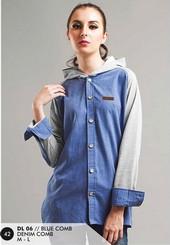 Sweater Denim Wanita Biru DL 06