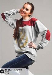 Sweater Terry Wanita Abu GL 02
