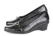 Wedges Kulit Gareu Shoes G 6093