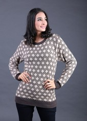 Baju Rajut Coklat Wanita FBT 019