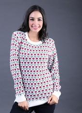 Baju Rajut Putih Wanita FBT 018