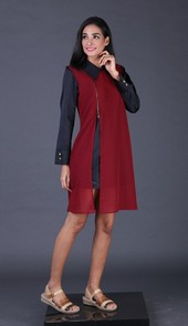Dress Maroon AKK 4559