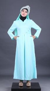 Gamis Biru Garsel Fashion FHN 012