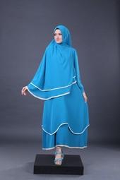 Gamis Biru Garsel Fashion HNI 1756