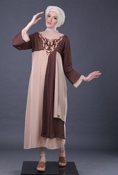Gamis Coklat Garsel Fashion BRH 3990