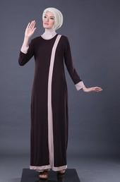 Gamis Coklat Garsel Fashion FWN 014