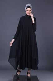 Gamis Hitam Garsel Fashion ASP 1188