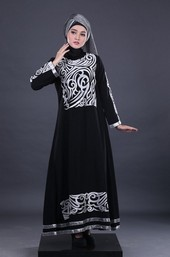 Gamis Hitam Garsel Fashion BRH 3991