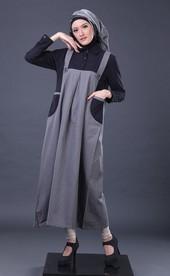 Gamis Hitam Garsel Fashion BRH 3993