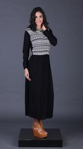 Gamis Hitam Garsel Fashion FGA 011