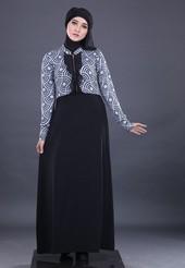 Gamis Hitam Garsel Fashion FKR 056