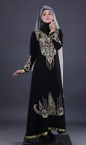 Gamis Hitam Garsel Fashion FNR 006