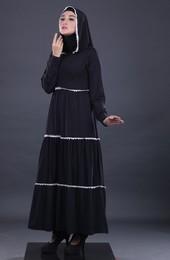 Gamis Hitam Garsel Fashion FWN 011