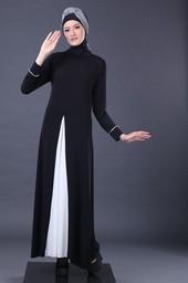 Gamis Hitam Garsel Fashion FYL 011