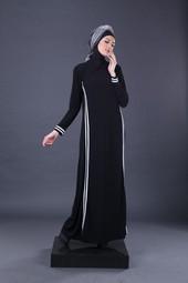 Gamis Hitam Garsel Fashion HNI 1757