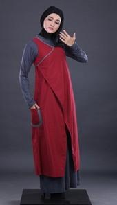 Gamis Maroon Garsel Fashion FTW 031