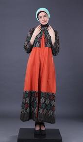 Gamis Orange Garsel Fashion FII 012