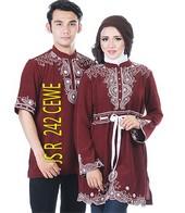 baju gamis batik JSR 242