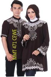 baju gamis batik MMT 471