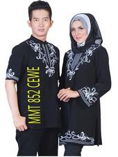 baju gamis batik MMT 852