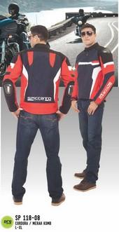 Jaket Motor Cordura Pria Merah SP 118.08